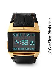 electrónico, reloj de pulsera
