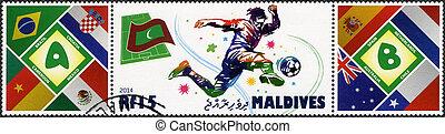MALDIVES - 2014: dedicated the 2014 FIFA World Cup Brazil,...