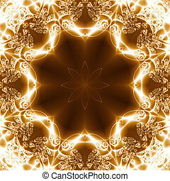 Abstract Light Gem, geometric pattern generated from a...