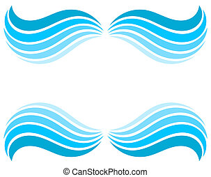 Water waves border