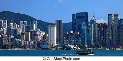 Sheung Wan, Hong Kong. - View of the Sheung Wan, Hong Kong....