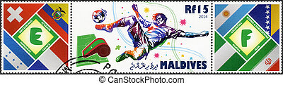 MALDIVES - 2014: dedicated the 2014 FIFA World Cup Brazil,...