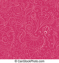 Seamless pink floral background - Seamless pink background...