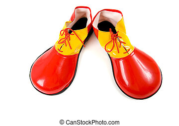 Clown Shoes on White