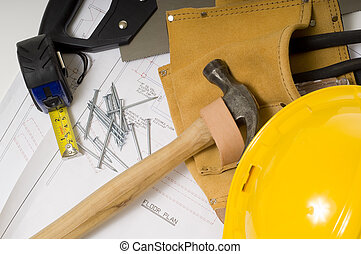 Construction or Handy Man Objects - supplies of a...