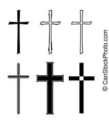 burial - set with different designs of grave crosses