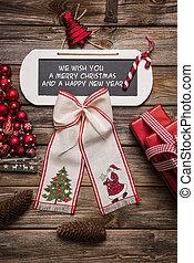 navidad, card:, nosotros, deseo, usted, alegre, navidad,...