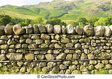 Dry stone wall no mortar uk - Dry stone wall with no mortar...