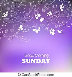 Sunday - Days of the Week. Sunday. Text good morning Sunday...