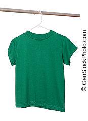 Green T-Shirt on Hanger