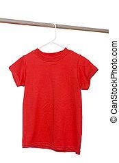 Red T-Shirt on Hanger