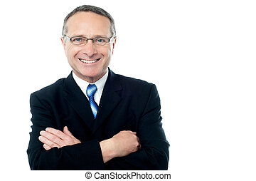 Senior businessman posing with confidence - Smiling aged...