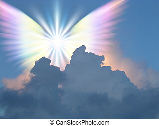 Angel - Supernatural being in sky