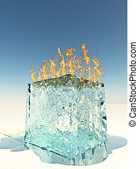 Burning Ice Cube