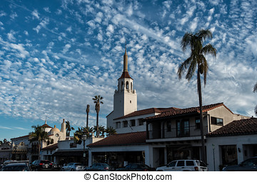 Historic old town in Santa Barbara California