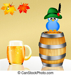 Oktoberfest beer - illustration of Oktoberfest beer