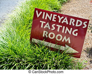 Vineyard Tasting Sign