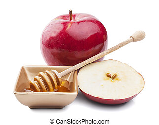 Apple and honey for Rosh Hashana jewish new year