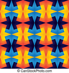 geometric vibrant colorful seamless repetitive pattern - vector