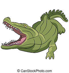 Alligator Cartoon - An image of an alligator