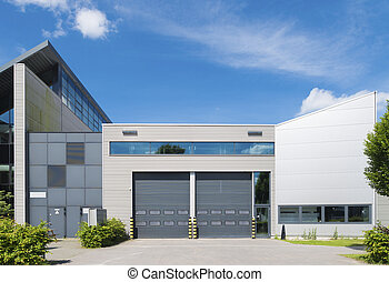 industrial unit - modern industrial unit with roller doors