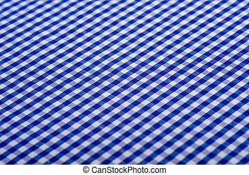 Blue Gingham Background - Blue Gingham or checked tablecloth...