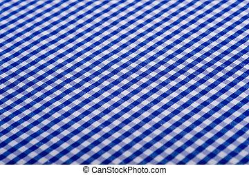 azul, gingham, fundo