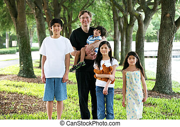 Father with his four children