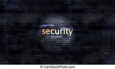 Security - The word Security in front of a digital...