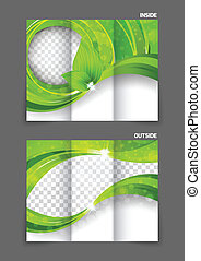 tri-fold brochure - Green tri-fold brochure ecology nature...