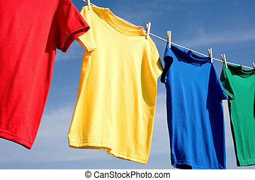 Primary Colored T-Shirts - a set of primary colored T-shirts...