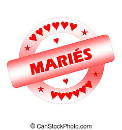 Just married french stamp - Red just married french stamp...