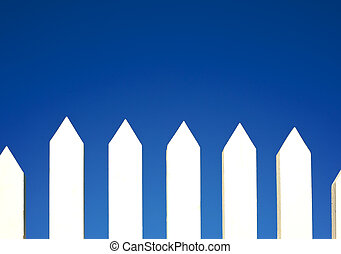White Picket Fence Background - A white picket fence...