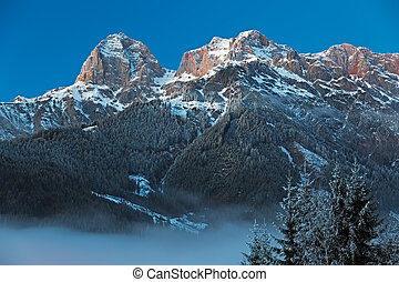 "Mountain Range ""Steinernes Meer"" in Alps at Dawn, Austria"