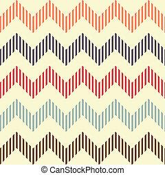 Seamless geometric wavy pattern. Popular vintage zigzag...