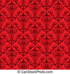 Red Wallpaper Pattern - an elegant wallpaper old-fashioned...
