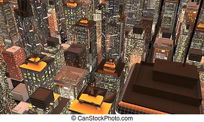 Big City - Generic urban architecture and skyscrapers. 3D...