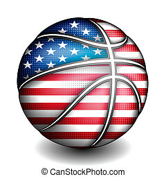 USA basket ball, vector