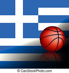 Greeks basket ball, vector