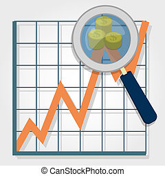 Graphical analysis with coins - Growth chart and a...