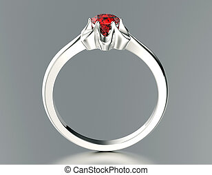 wedding ring - Ring with Diamond Jewelry background