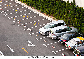 cars parking - the cars parking on the outdoor.