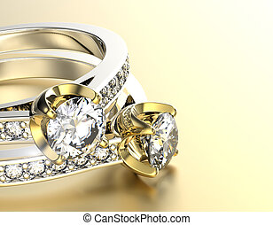 wedding ring -  Ring with Diamond. Jewelry background