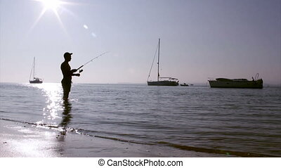 Ria Formosa Fisherman Silhouette - Sunset fisherman...