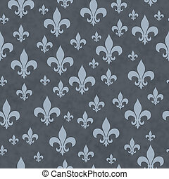 Blue Fleur-de-lis Pattern Repeat Background that is seamless...