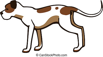 American Pit Bull - vector drawing of a dog the american pit...