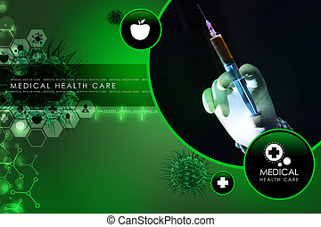 doctor hand with syringe