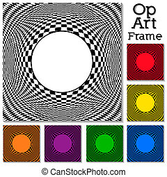 Op Art Design Patterns with Frame - Op art design pattern,...