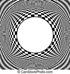 Op Art Design Pattern with Frame