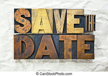 Save the Date Letterpress